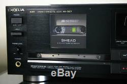AIWA EXCELIA XK-007 cassette deck withNEW BELTS TESTED Working Good F/S