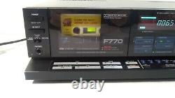 Aiwa F770 3 Head Computerized Cassette Player / Recorder Serviced May 2020