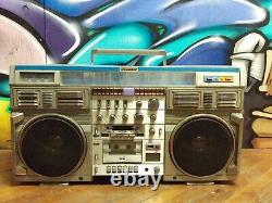 Conion C-100F BOOMBOX STEREO 80s BLASTER Cassette Deck - Amp Works Read Listing