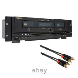 Marantz Professional PMD-300CP Dual USB Cassette Deck with Stereo Audio Cable