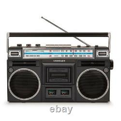 NEW Crosley CT201A-BK Cassette Tape Deck Player with AM/FM Radio Black