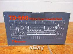 NEW Nakamichi TD-560 Cassette Tape Deck Mobile Receiver Pull Out RCA CD CHANGER
