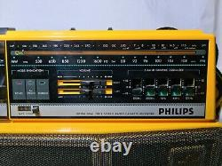 Philips Vintage D8304 Dual Deck Cassette Radio Retro Boombox Fully Working