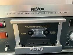 REVOX B 710 MKII Casette deck, Professional maintained, TOP with REMOTE CONTROL