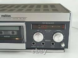 Revox B 710 Microcomputer Controlled Cassette Tape Deck with Manual & Power Cord