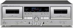 TEAC Double cassette deck SILVER TEAC W-1200 Tracking number NEW