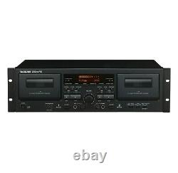 Tascam 202MKVII Rackmount Professional Dual Cassette Deck with USB OUT + Remote