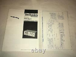 VINTAGE TECHNICS STEREO CASSETTE TAPE DECK model RS-631 with MANUAL & SCHEMATIC