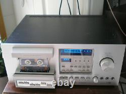 Vintage Pioneer CT-F900, Silver Stereo Cassette Deck Fluorescent Series, 3 Head
