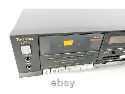Vintage Technics Stereo Double Cassette Deck RS-933W JAPAN Tested Working
